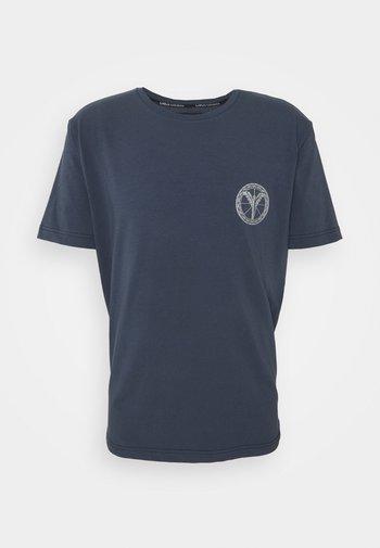 UNISEX - Print T-shirt - navy