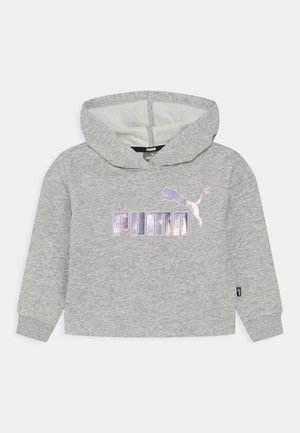 LOGO CROPPED HOODIE - Sudadera - light gray heather