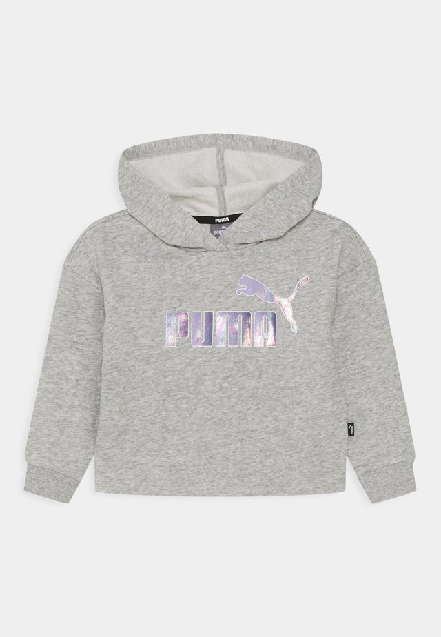 LOGO CROPPED HOODIE - Sweater - light gray heather