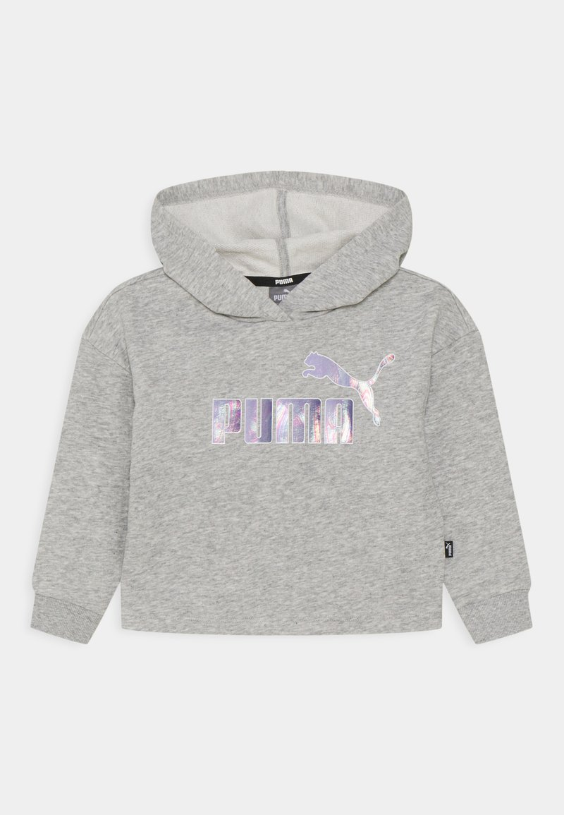 Puma - LOGO CROPPED HOODIE - Mikina - light gray heather