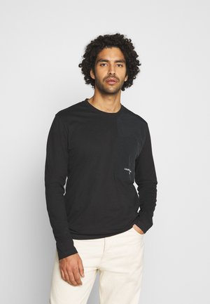 UTILITY POCKET - T-shirt à manches longues - black