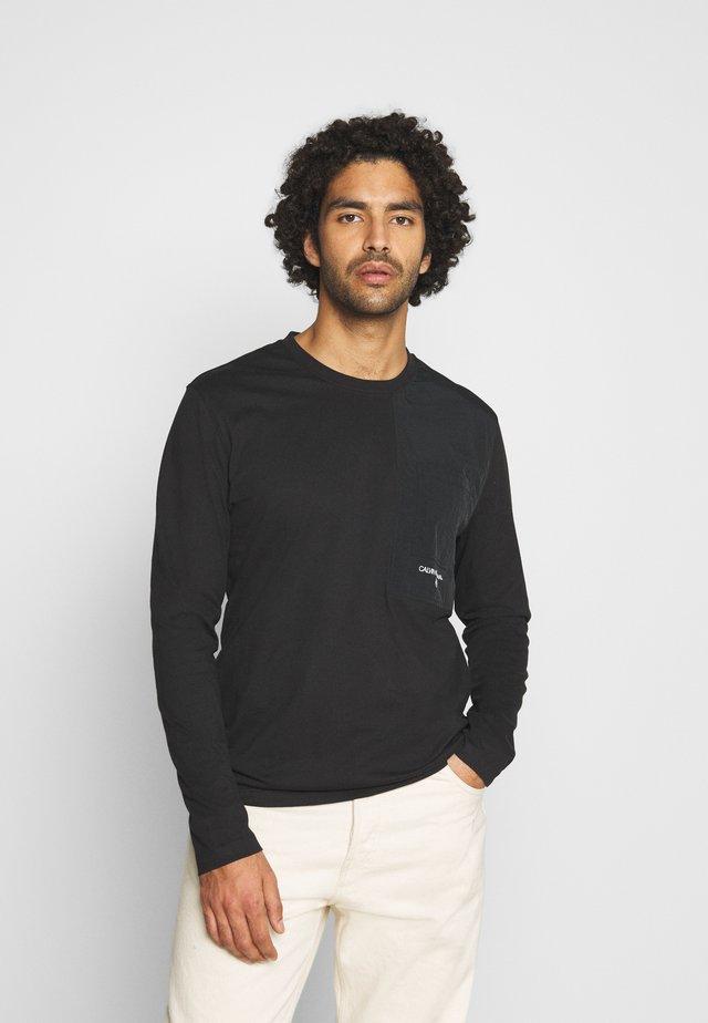 UTILITY POCKET - T-shirt à manches longues - black