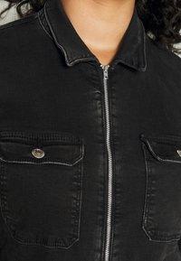 ONLY Carmakoma - CARCALLI ZIP - Jumpsuit - black denim - 6