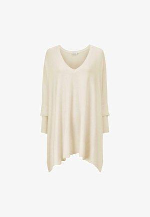 FOSNA  - Stickad tröja - white