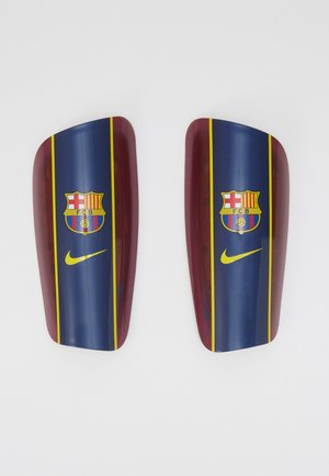 Shin pads - noble red/loyal blue