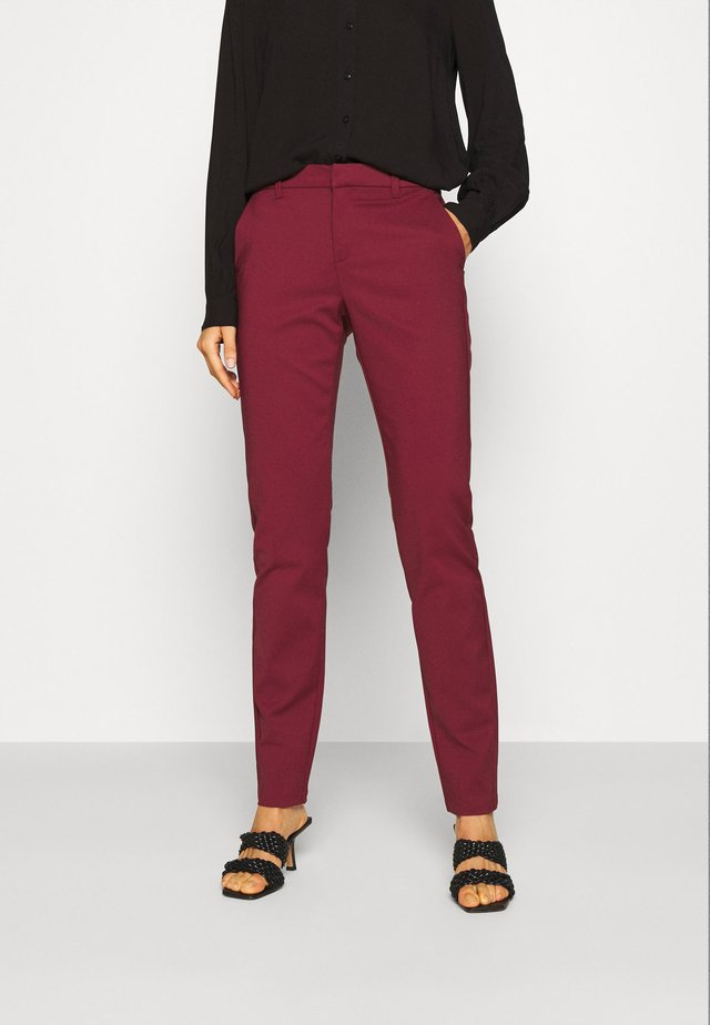 VMLEAH CLASSIC PANT - Trousers - cabernet