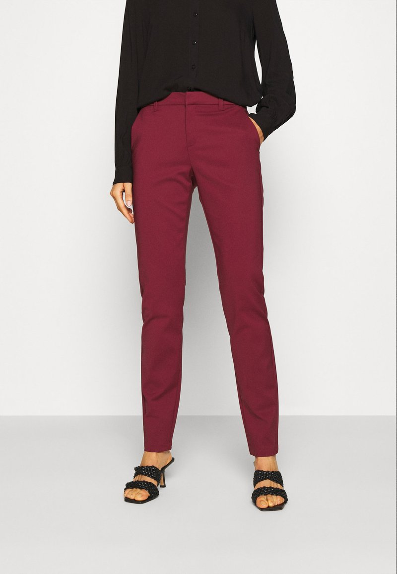 Vero Moda - VMLEAH CLASSIC PANT - Trousers - cabernet