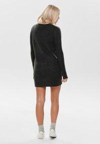 JDY - Strikket kjole - dark grey melange - 2