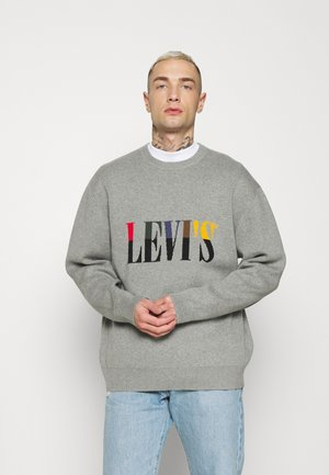 CREWNECK UNISEX - Stickad tröja - grey heather