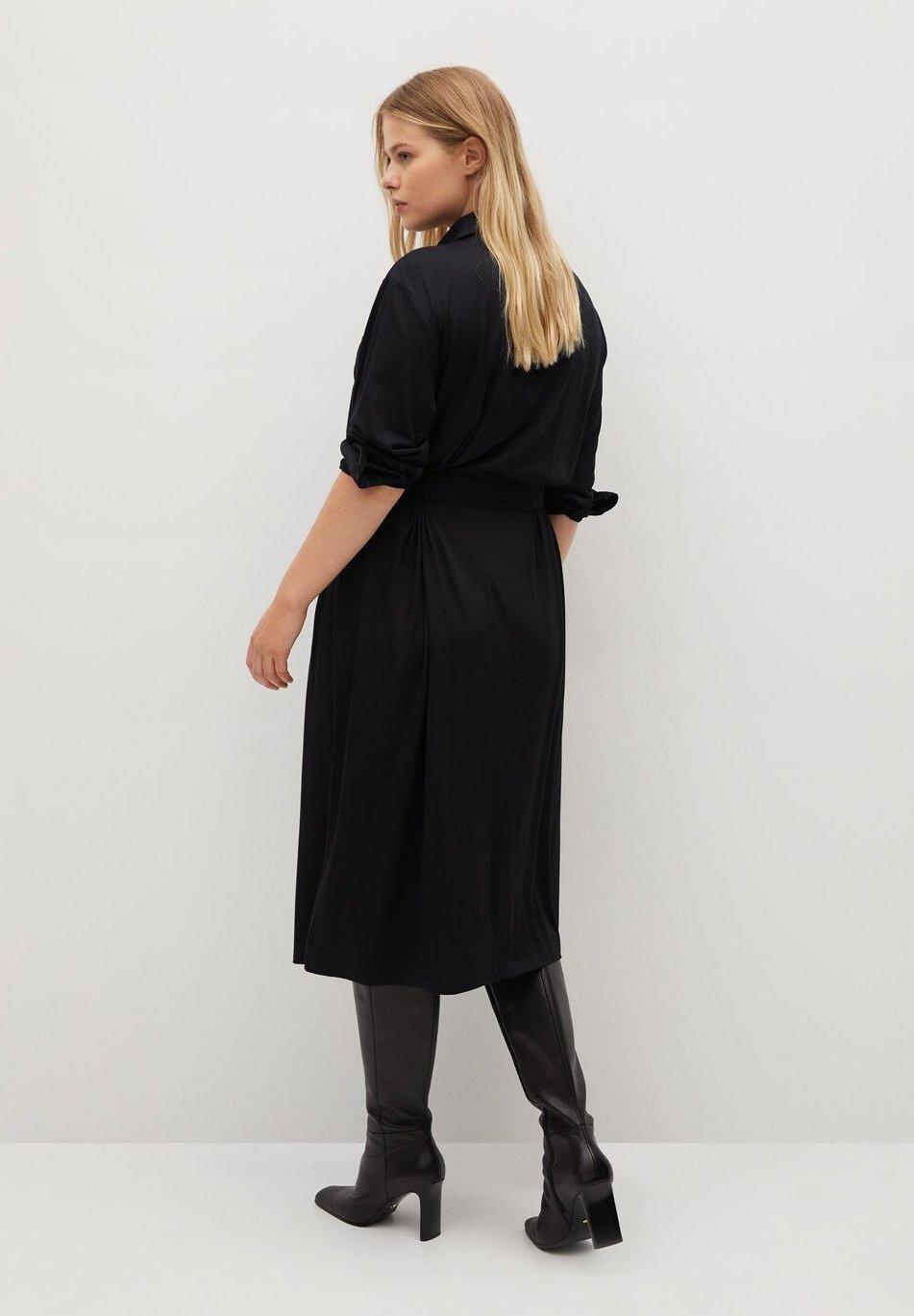 Violeta by Mango SAHARA Blusenkleid schwarz