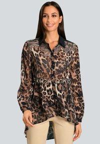 Alba Moda - Button-down blouse - marineblau beige - 0