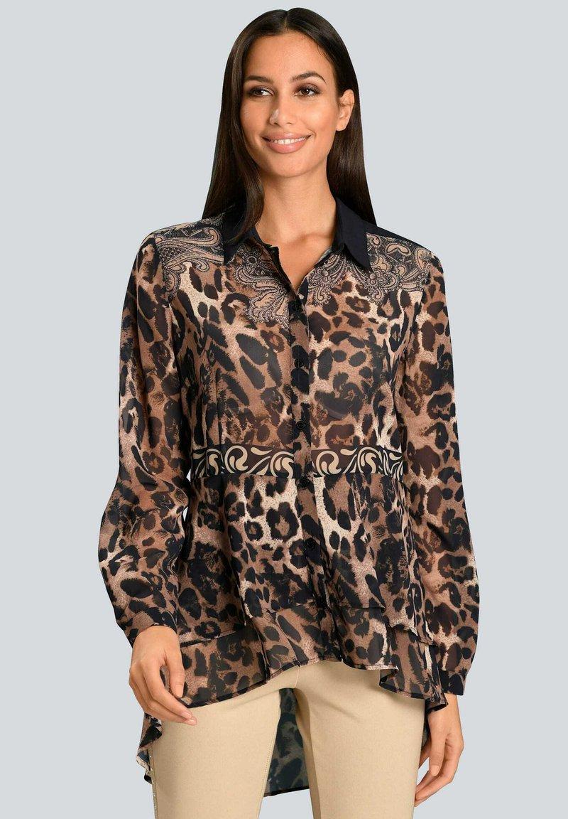 Alba Moda - Button-down blouse - marineblau beige