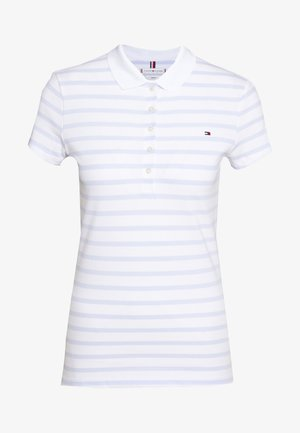 SHORT SLEEVE SLIM STRIPE - Poloskjorter - bliss blue