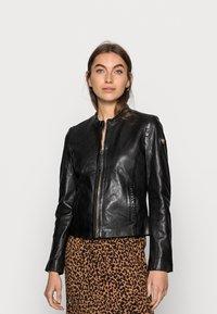 Gipsy - ZAI LASTAV - Leather jacket - black - 0