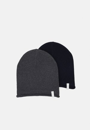 2 PACK - Beanie - dark grey/dark blue