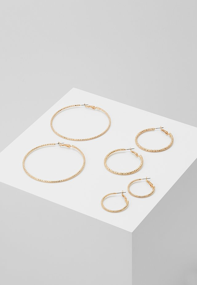 ONLHELLE 3 PACK CREOL EARRINGS - Korvakorut - gold-coloured