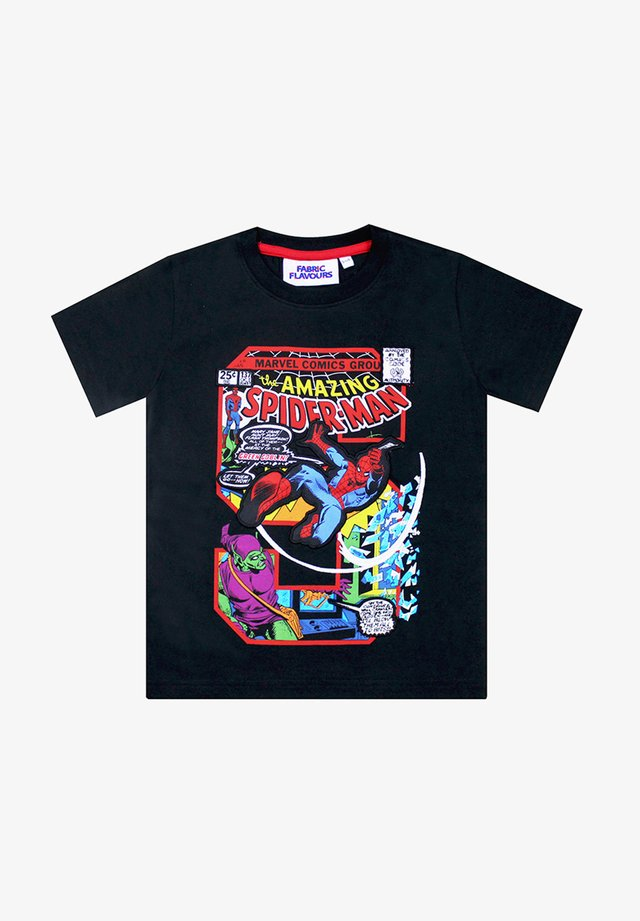 MARVEL SPIDER-MAN S APPIQUETEE - Print T-shirt - black