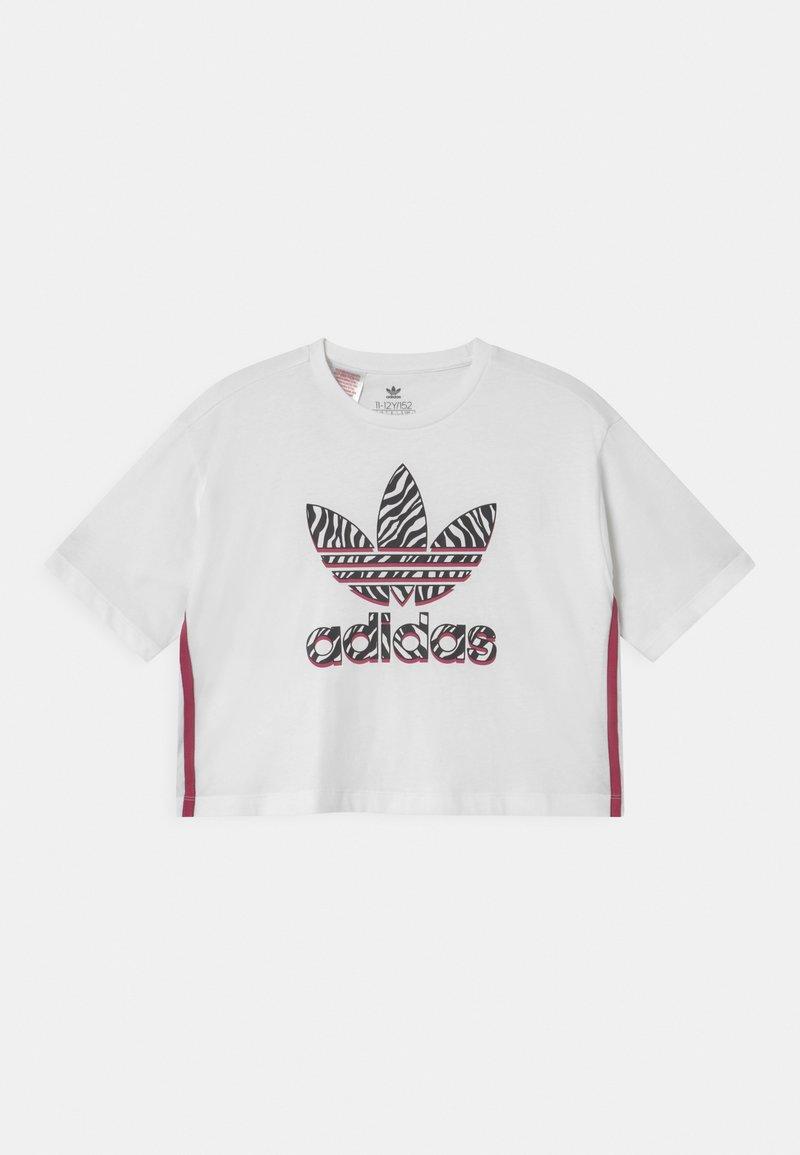 adidas Originals - CROPPED TREFOIL  - Triko spotiskem - white/multicolor/wild pink