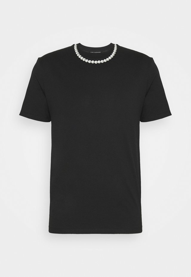 PEARL NECKLACE - T-shirt print - black