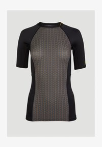 O'Neill - ANGLET  - Rash vest - black with yellow - 0