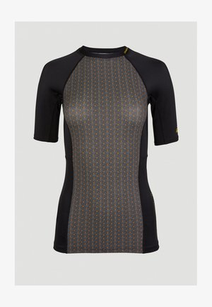 ANGLET  - Rash vest - black with yellow