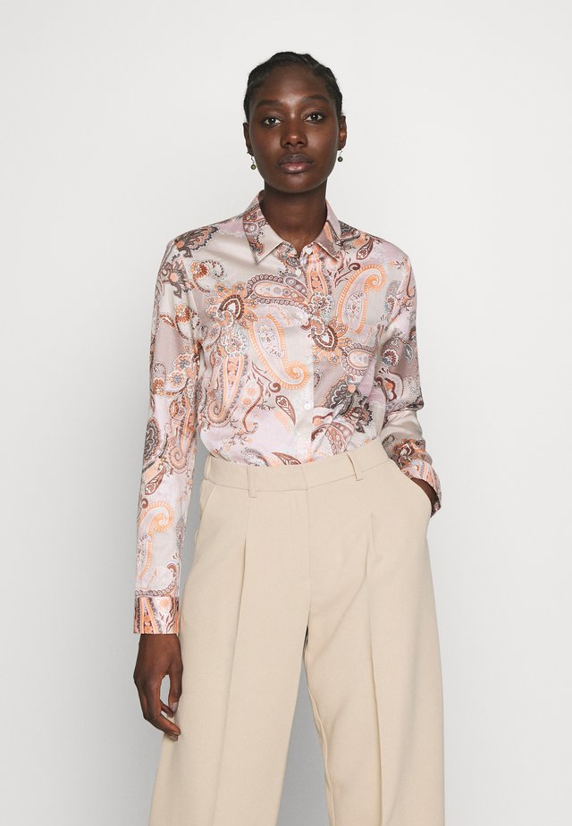 CARRY - Button-down blouse - beige/braun