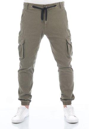 RIVHANNO - Cargo trousers - dusty olive