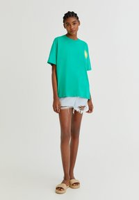 PULL&BEAR - Print T-shirt - light green - 1