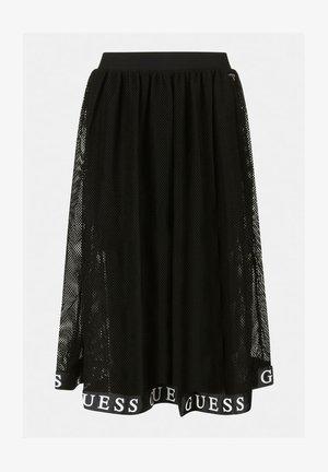 NETZSTOFF LOGO ROCK - A-line skirt - schwarz