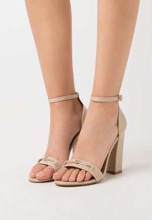 WIDE FIT CHRYSTA - High heeled sandals - nude