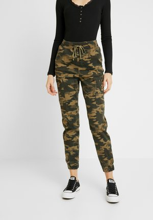 JOGGER TRIM - Trousers - olive