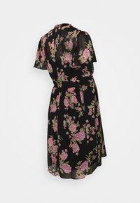 Dorothy Perkins Maternity - FLORAL FIT & FLARE - Jersey dress - black/rose - 1