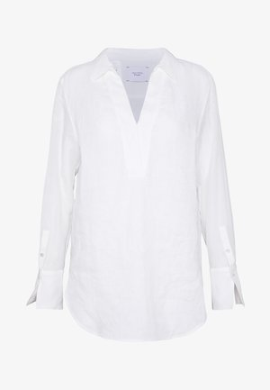 BLOUSE LONG SLEEVE REGULAR FIT A-SHAPE HYBRID STYLE - Bluser - clear white