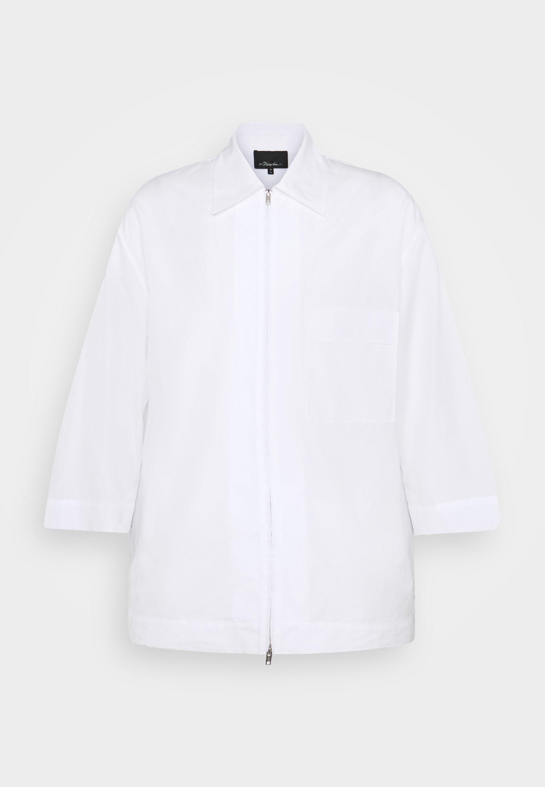 3.1 Phillip Lim 3/4 Sleeve Zip - Koszula White
