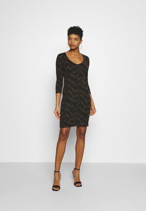 ONYFANCY DRESS  - Shift dress - black/gold