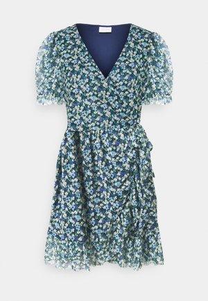 VIVOLETTE COTTAGE WRAP DRESS - Kjole - navy