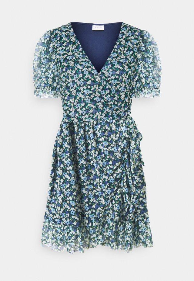 VIVOLETTE COTTAGE WRAP DRESS - Korte jurk - navy