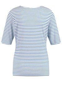Gerry Weber - 1/2 ARM GERINGELTES - Print T-shirt - ecru/weiss/blau ringel - 4