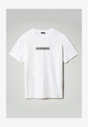 S-BOX   - Print T-shirt - bright white