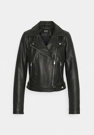 ONLBEST BIKER - Faux leather jacket - black