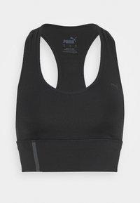 Puma - MID IMPACT LONG LINE BRA - Sports bra - black - 4