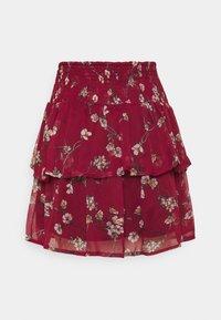 Vero Moda - VMWONDA SMOCK SHORT SKIRT - A-line skirt - tibetan red/eliza - 6