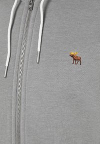 Abercrombie & Fitch - Zip-up hoodie - flat grey - 2
