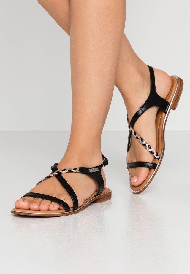 HORSOU - Sandaalit nilkkaremmillä - noir