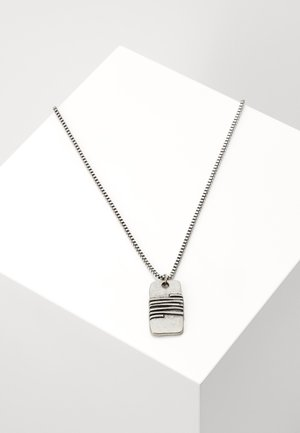 WRAPPED UP DISK NECKLACE - Náhrdelník - silver-coloured