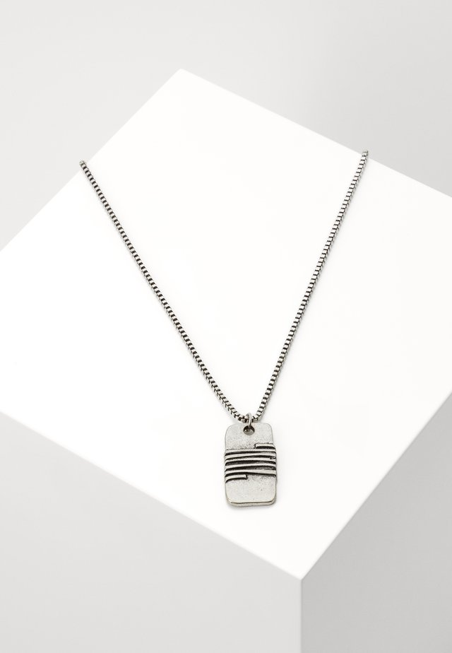 WRAPPED UP DISK NECKLACE - Collar - silver-coloured