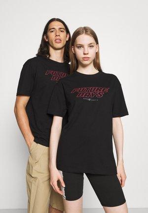 FUTURE DAYS UNISEX - T-shirts med print - black