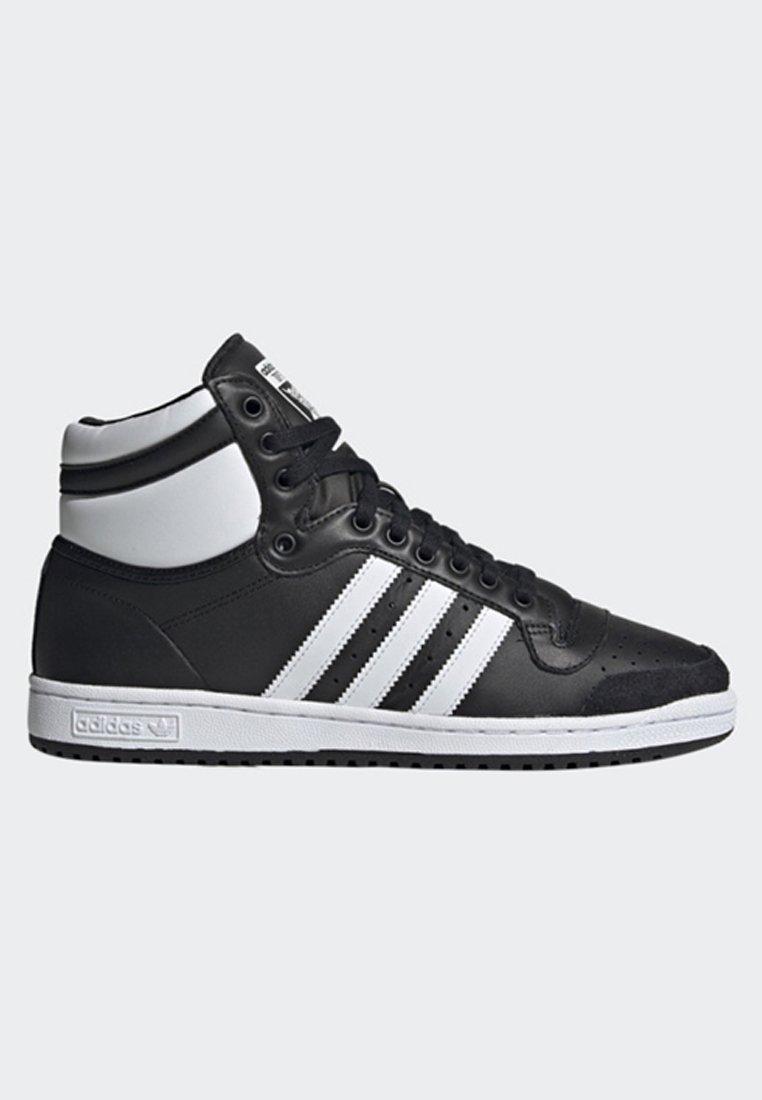 ADIDAS ORIGINALS TOP Ten High Mens Shoes BlackWhite Size 10