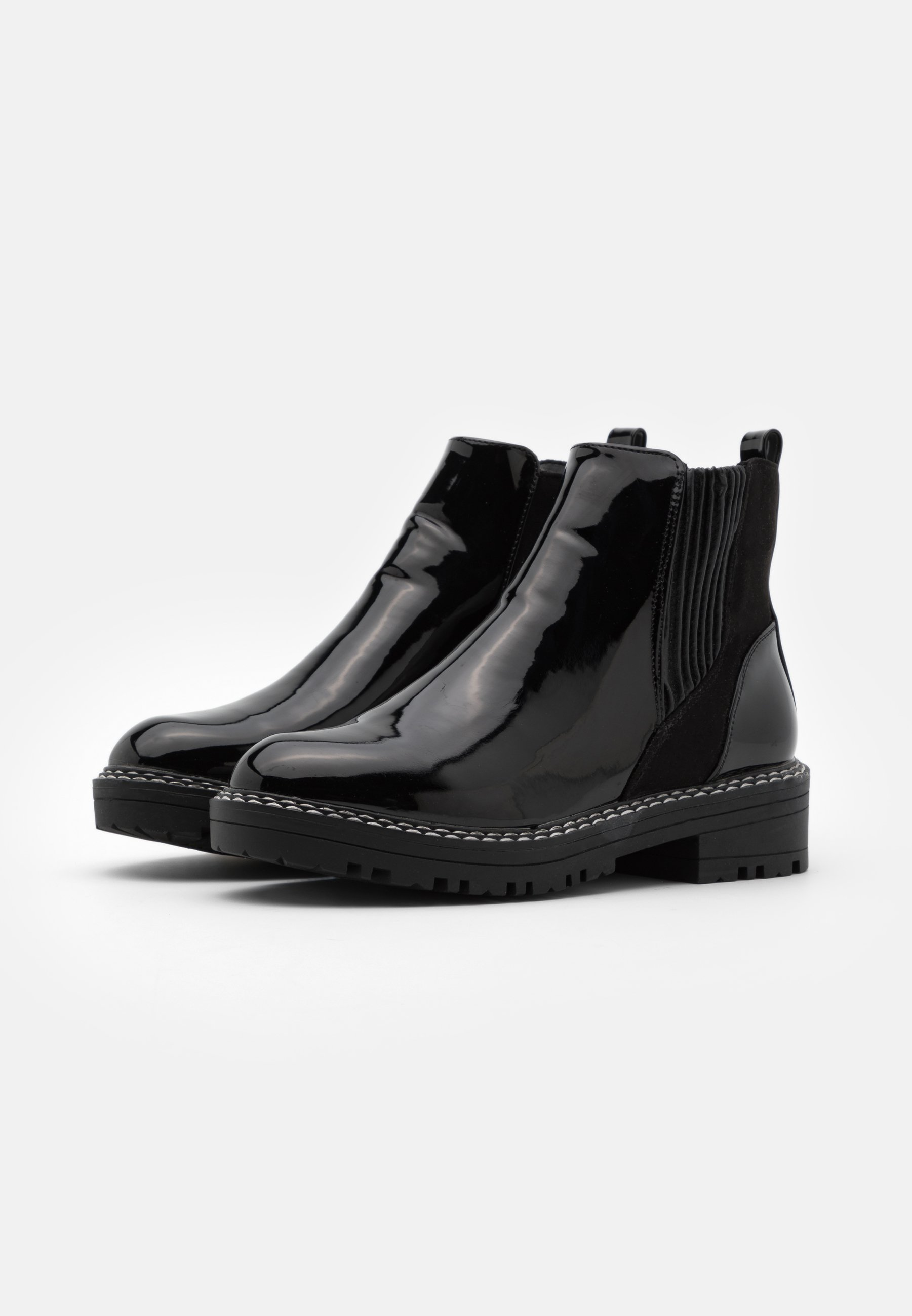 River Island Ankle Boot black/schwarz