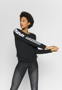 adidas Performance - BLOCK CREW - Sweater - black - 0